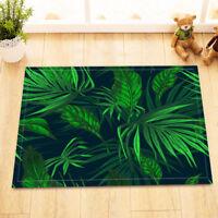 Tropical Jungle Bath Mat Rug Palm Leaves Non-Slip Home Decor Bathroom Carpet