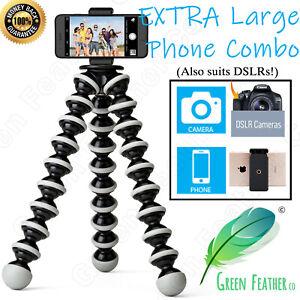 XLARGE Flexible Gorilla Tripod | Phone + Camera Combo | iPhone Samsung Camera