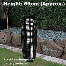 New Traditional Solar Powered Rattan Garden Floor Lamp Garden Decoration