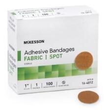 McKesson Adhesive Spot Bandage 1'' Diameter Fabric Round Tan -100/Box