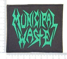 MUNICIPAL WASTE 01 embroidered patch, thermal glue on the back