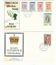 Gibraltar: 4 first day cover thematic Queen. GI35