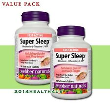 2 x Webber Naturals Super Sleep Melatonin Plus L-Theanine & 5-HTP, 90 tablets