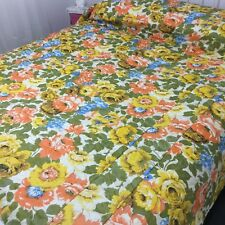 VINTAGE Made in USA Unused BEDSPREAD QUILT Floral GORGEOUS Country French