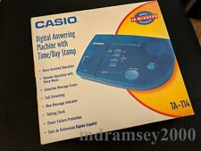 Casio Translucent Blue Answering Machine (TA-114)