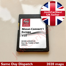 NISSAN CONNECT 1 V10 LCN1 SD CARD MAP NAVIGATION MAP UK AND EUROPE 2020 - 2021
