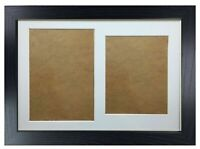 New Graduation Double Photo Frame for 1 A4 Certificate & 8X10'' Photograph Black