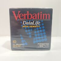 "Verbatim DataLife MF2-HD High Density 3.5"" Disks IBM Format 1.44 MB (10 Pack)"