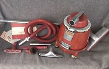 Mid Century Vac-U-Way Saniway Mark IV Canister Vacuum Cleaner w/ Attachments