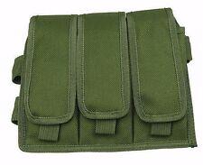 OD Green Triple Magazine Clip Pouch Drop Leg Assembly Air Soft BB 3 Mag Gun 212G