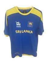 ECU Sri Lanka Cricket Jersey 2012 L Twenty20 ICC Blue Yellow Mens Size Large L
