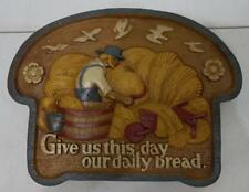 Vtg 1986 Homco Burwood Give Us This Day Our Daily Bread Plastic Wall Plaque