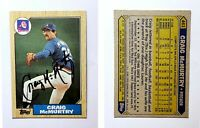 Craig McMurtry Signed 1987 Topps #461 Card Atlanta Braves Auto Autograph