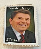 United States Stamp, Ronald Reagan, 40th President, 1981 to 1989, 37 Cents, 2005