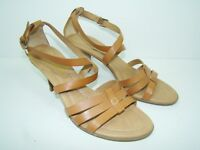 FRANCO SARTO Strappy Heel Open Toe Women's Brown Sandals Ankle Strap - 8M