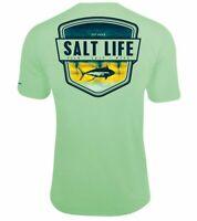 Mens Salt Life Electric Skinz SLX UVapor Performance T-Shirt - 2XL/XL/Large  NWT