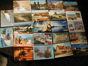 100 Mixed Used/Unused Greece, Barbados, Bahamas, UK, Madrid from 1980s