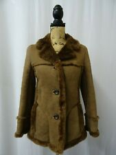 Women's Brown Sheepskin Coat Size 6