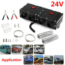 24V 4 Outlet Iron Compact Truck Car SUV RV Heater Heating Defroster Demister Set