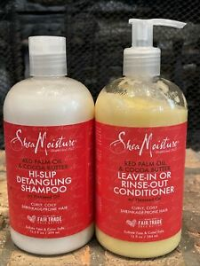 Set Shea Moisture Red Palm Oil & Cocoa Butter Detangling Shampoo & Conditioner