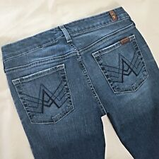 7 SEVEN FOR ALL MANKIND jeans A POCKET Stretch Bootcut Low Rise $198 27