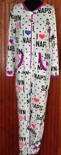 Secret Treasures One Piece Sleeper Pajamas I Love Naps Heart Print White Medium