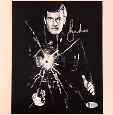 ROGER MOORE Autograph JAMES BOND Signed 8x10 Photo ~ Beckett BAS COA + Pic Proof