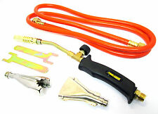 Plumbers Gas Torch  Set / Kit Propane 2 Metre Hose 3 Burners  Weed Burner  PB022