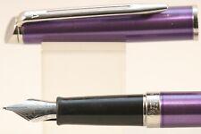 Waterman Hemisphere Purple Medium Fountain Pen with Chrome Trim, Cased