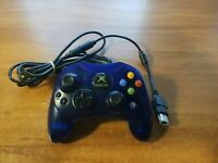OEM Microsoft Original XBOX S Controller - Blue + Breakaway Cable *TESTED*
