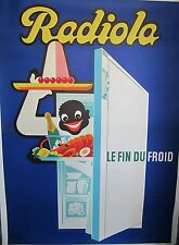 Vintage 1950's French Refrigerator Ad Poster on Linen