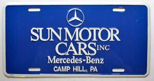 Sun Motor Cars Mercedes-Benz Dealer Vanity Booster License Plate Camp Hill PA