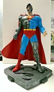 "Custom CYBORG SUPERMAN 14"" STATUE Professional Build / Paint RARE Only 2 Exist"