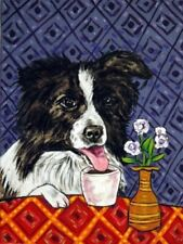 border collie dog coffee 13x19 art Print animals impressionism gift new