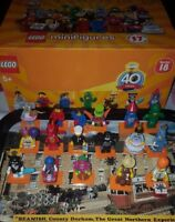 NEW Lego series 18 minifigures 40th Party figures-71021- choose your mascot