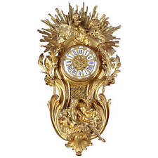 A Large French Ormolu Bronze Cartel Clock Wall Clock