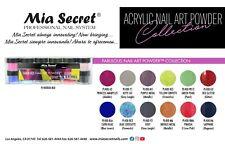 NEW! Mia Secret Nail Art Acrylic Professional Powder 12 Color Set - FABULOUS