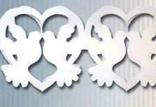 Guirlande colombes et cœurs blancs 360 cm Mariage Cérémonie décoration de salle