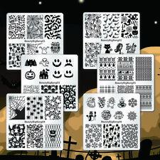 6Pcs Halloween Manicure Template Nail Art Image Stamping Polish Plate Stencils