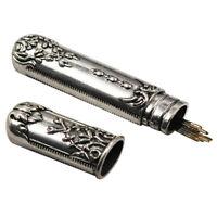 Tubo de agujas de coser a mano de acero inoxidable DIY Vintage Case Leather K_ws