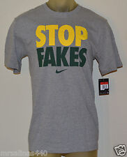 New NIKE STOP FAKES FOOTBALL GREEN BAY PACKERS Mens SMALL S GREY Shirt 709878