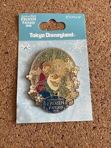TDL Tokyo Frozen Fantasy Event 2015 Elsa Anna Olaf Disney Pin 107208
