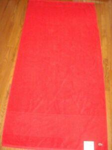 LACOSTE RED LEGEND BATH SHEET 35 IN x 70 IN