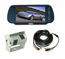 "Rear view system 7"" Mirror Monitor & Double twin Sony CCD Camera"