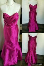 Vintage Jim Hjelm Occasions  Gown Fuchsia Pink Wedding Prom Party dress UK 12
