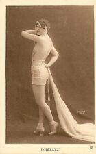 CARTE POSTALE ILLUSTRATEUR PHOTO SABOURIN PARIS NU FANTAISIE FEMME - DHERLYS -
