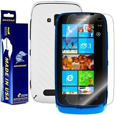 ArmorSuit MilitaryShield Nokia Lumia 610 Screen + White Carbon Fiber Skin! New!