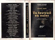SERIE NOIRE n°28 ¤ HENRY KANE ¤ UN FAUTEUIL EN ENFER ¤ EO 1949 + JAQUETTE