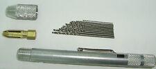 Taladro Manual con 12 brocas para Placas Electronica + 12 broca acero d repuesto