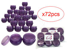 72 Pieces 10 Gram/10ml Purple Round Frosted Sample Jars with Inner Liner and Lid